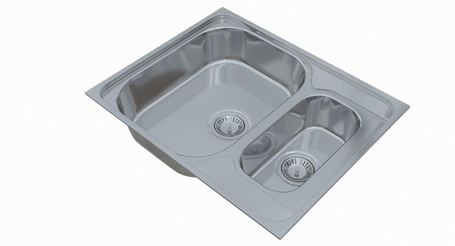 3D sink blanco tipo 6 - TurboSquid 1251150