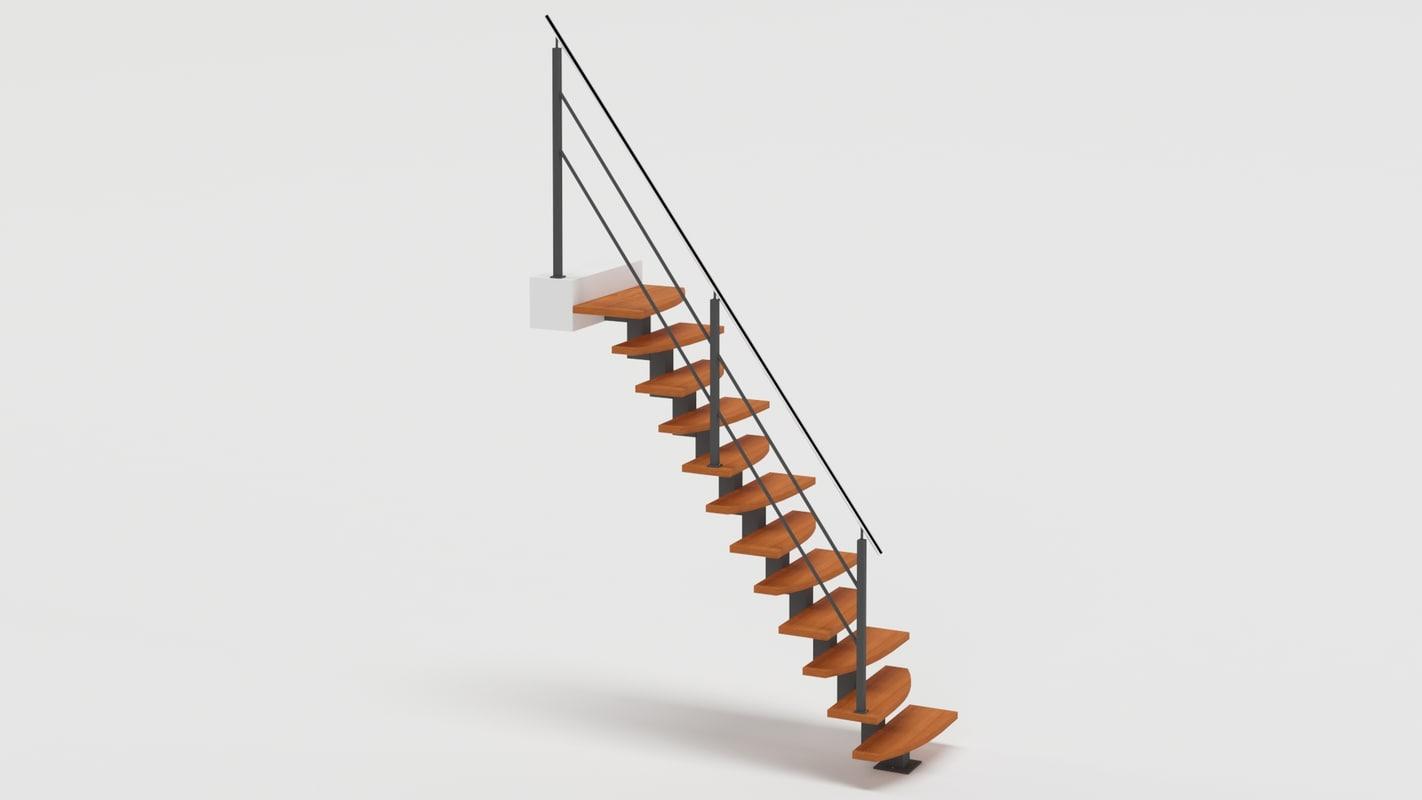 3D steep stairs