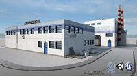 3D paper factory pbr