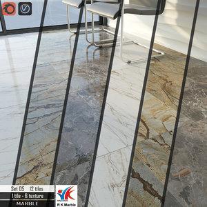 3D model tile r k marble