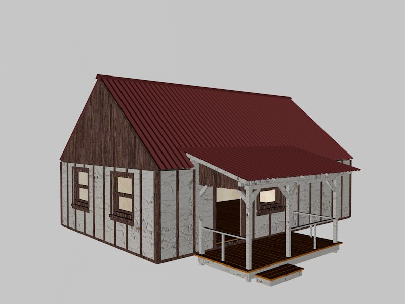 house wood model