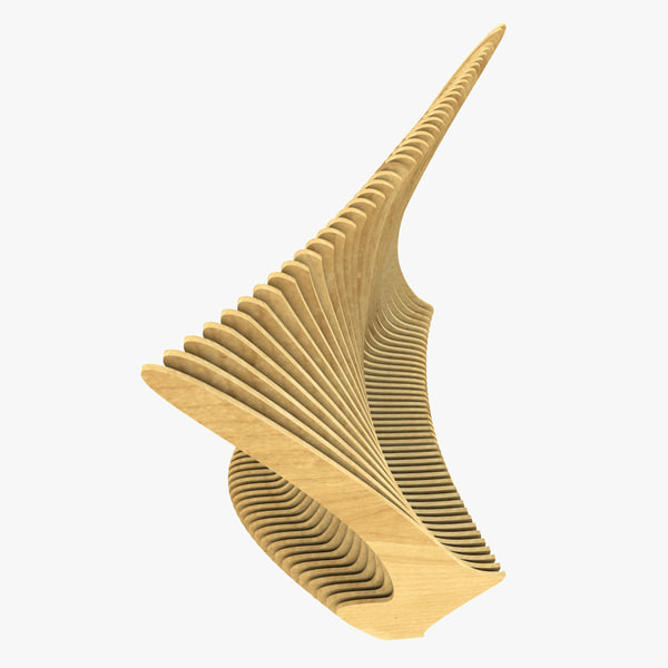 3d small abstract bench park model