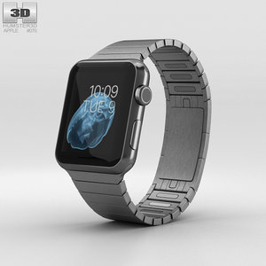 apple watch stainless 3D