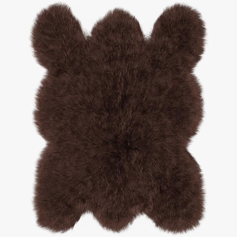 wool big brown bear 3D model