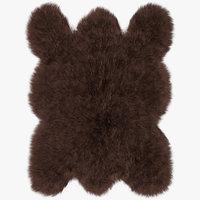Big brown bear rug