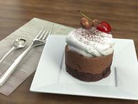 3D cake chocolate cherry model