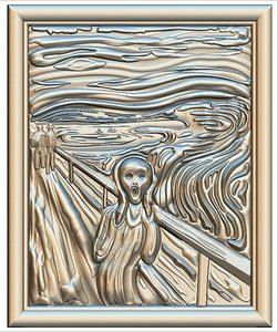 3D edvard munch scream cnc
