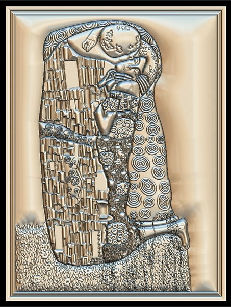gustav klimt kiss cnc 3D model