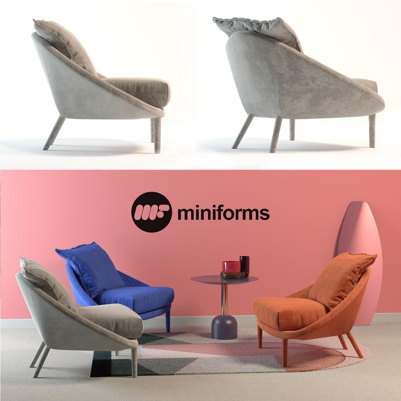 armchair lem 3D