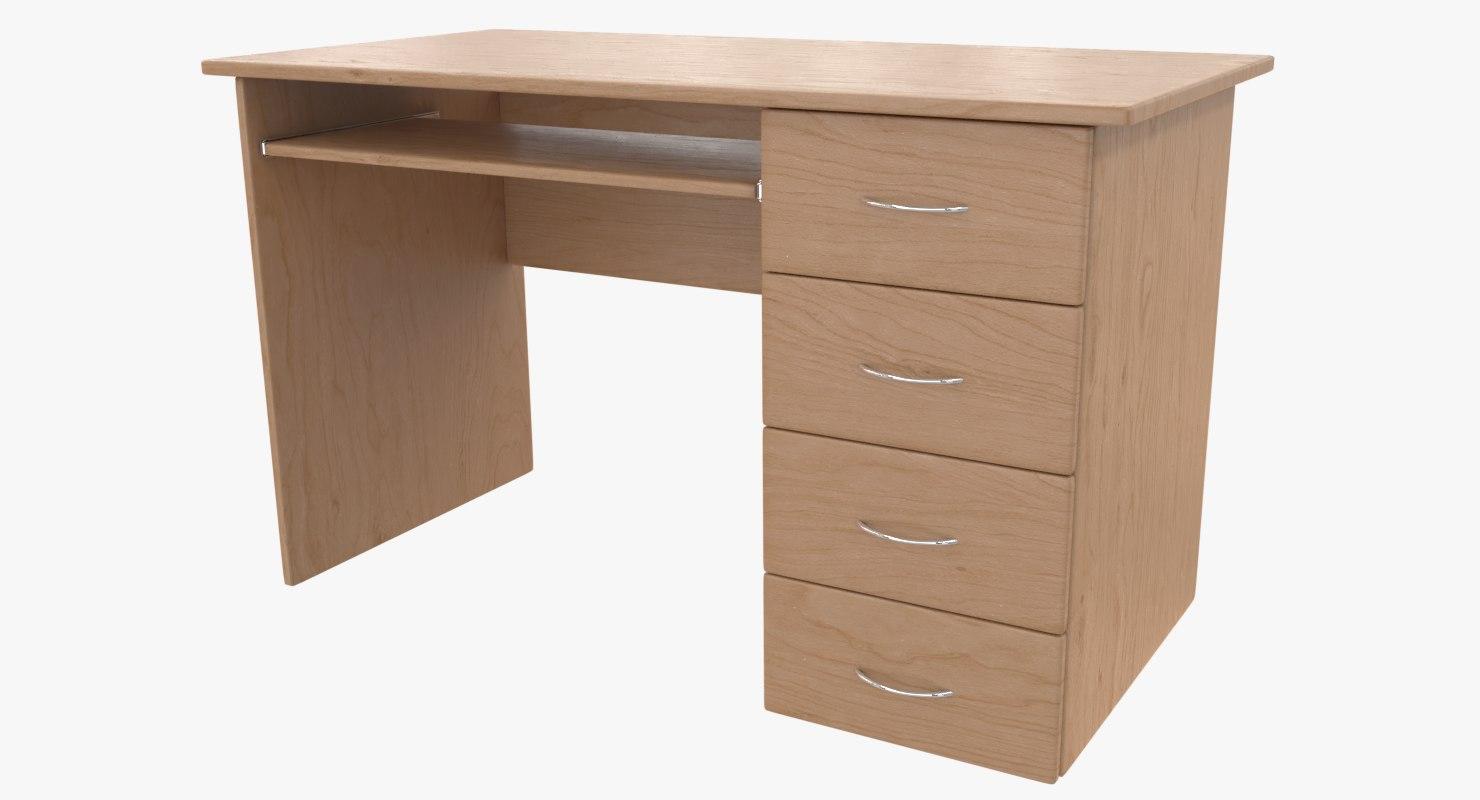 photorealistic desk 3D model