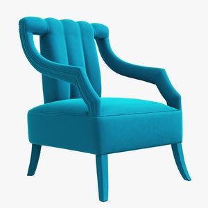 cayo armchair brabbu interior design 3D model
