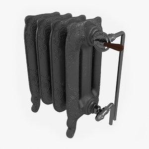 3D cast iron radiator
