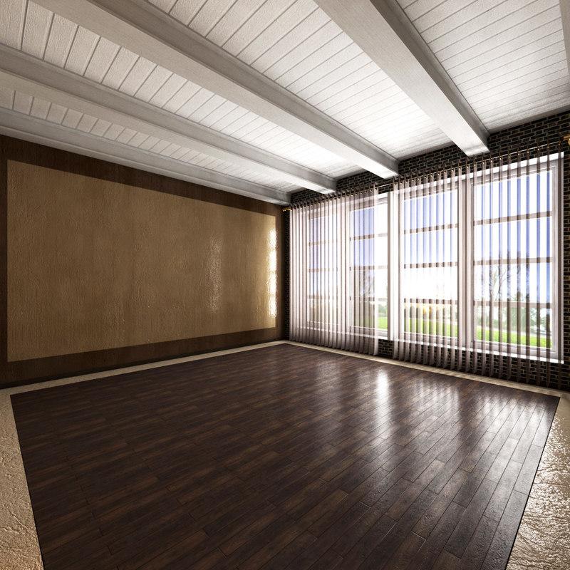 room interior scene 3D