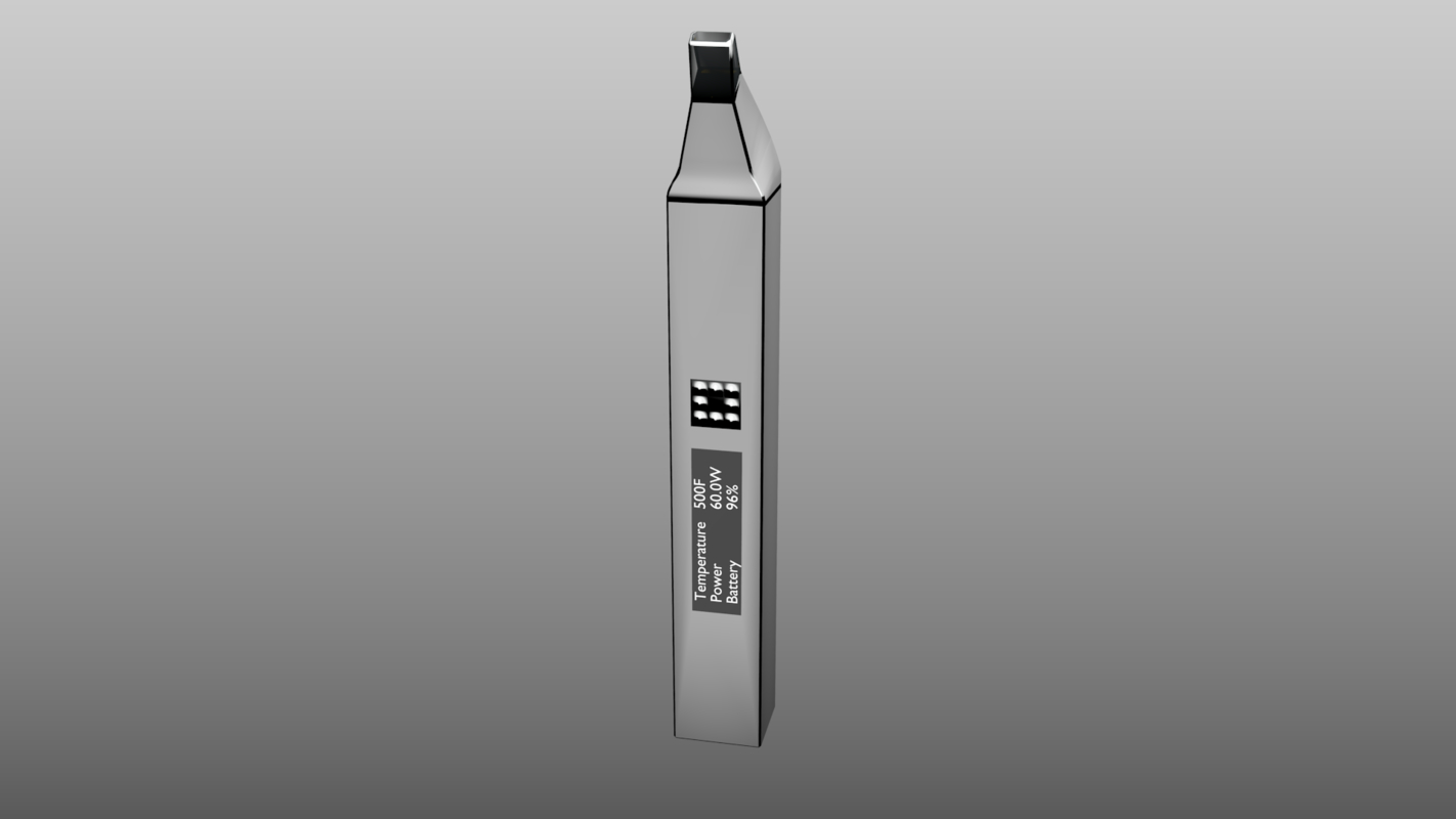3D premium-class cigarette design white model