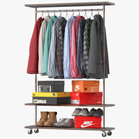 Industrial Clothes Rail Rack 01