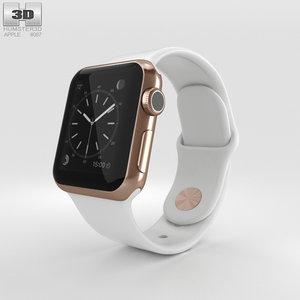 3D apple watch edition model