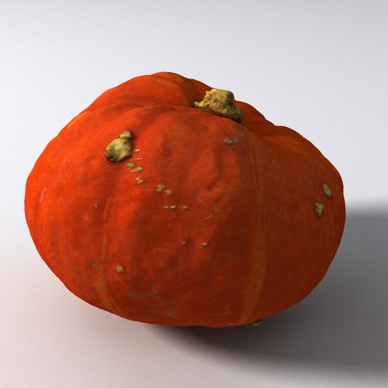 3D model hokaido pumpkin