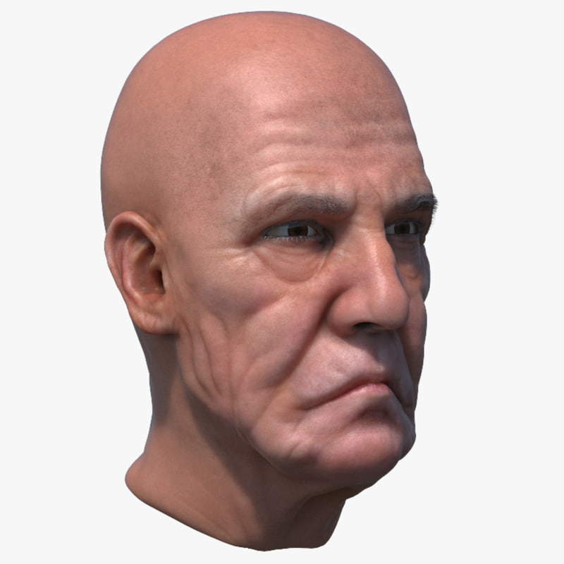 old man head 3D