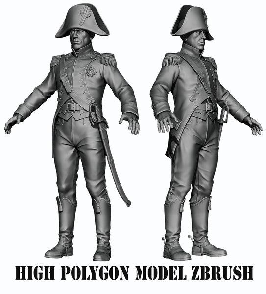 napoleon infantry infantryman 3D model