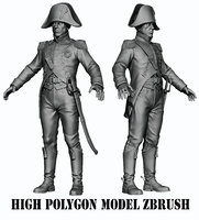 Napoleon infantryman HIGH POLY