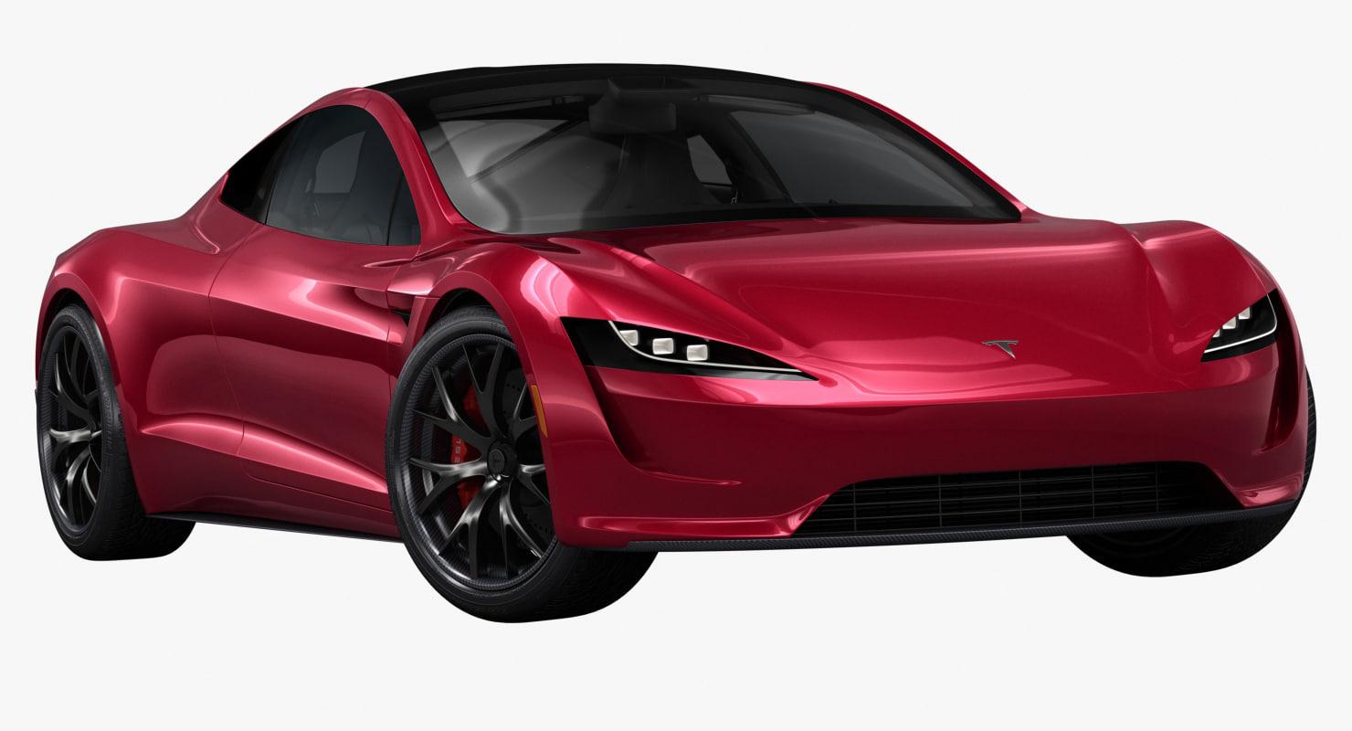 3D 2020 tesla roadster