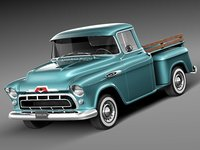 american v8 antique 1957 chevrolet 3d 3ds
