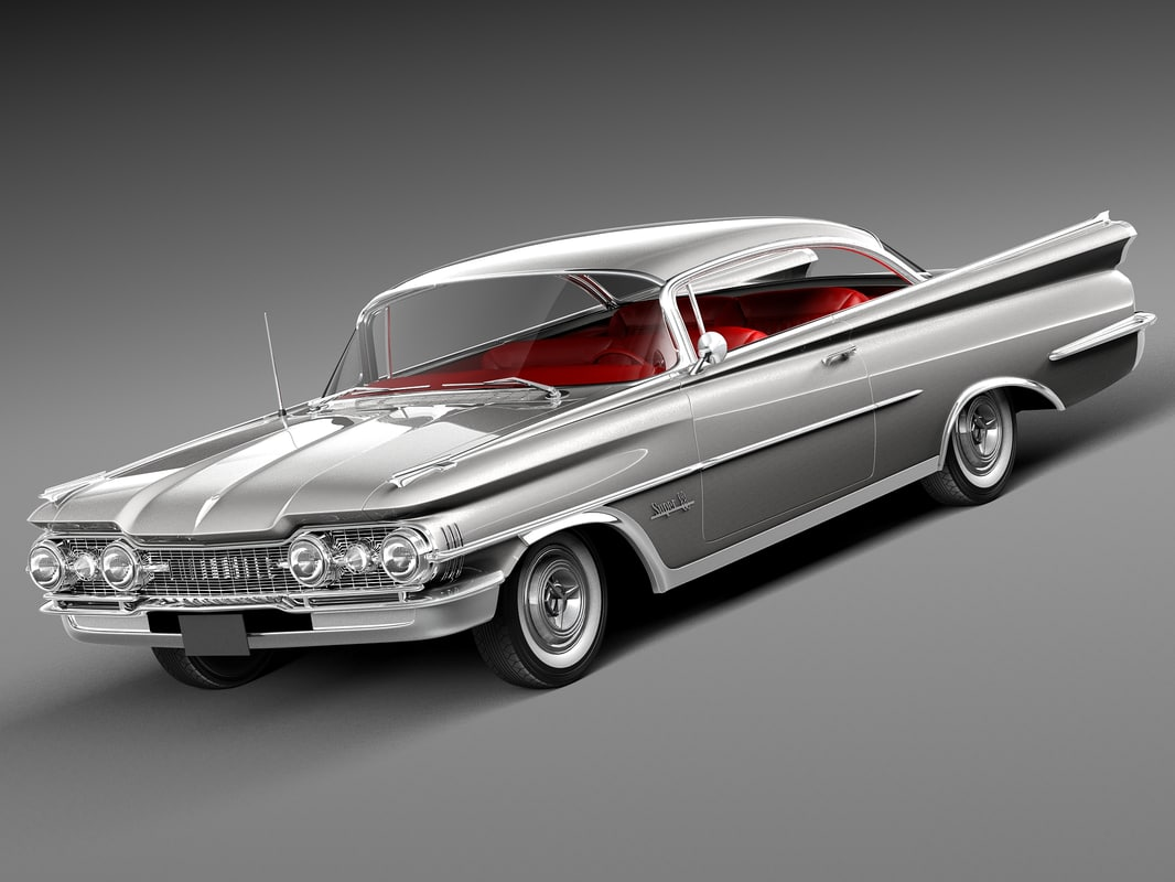 v8 antique luxury coupe 3d model