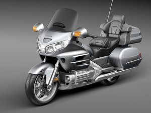3d honda goldwing gold model