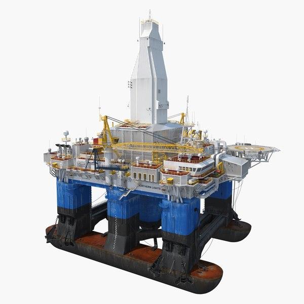 3D drilling rig model