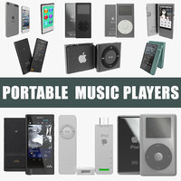 Portable Music Players Big 3D Models Collection