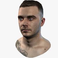 3D male head - steven