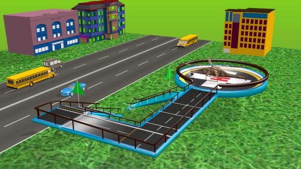 helipad hd 3D model
