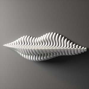 wall shelf parametric 3D