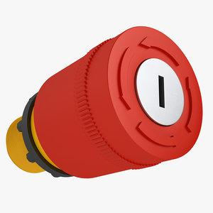 emergency stop key 3D model