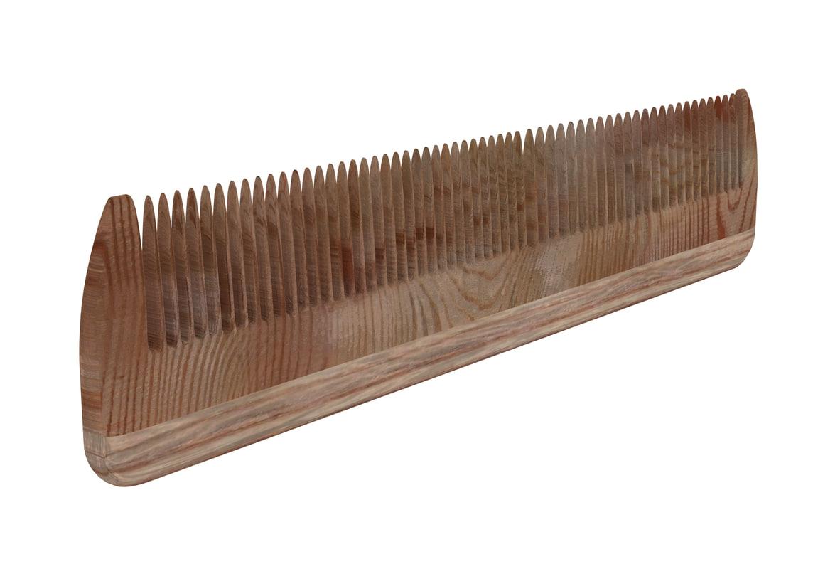 3D wooden comb
