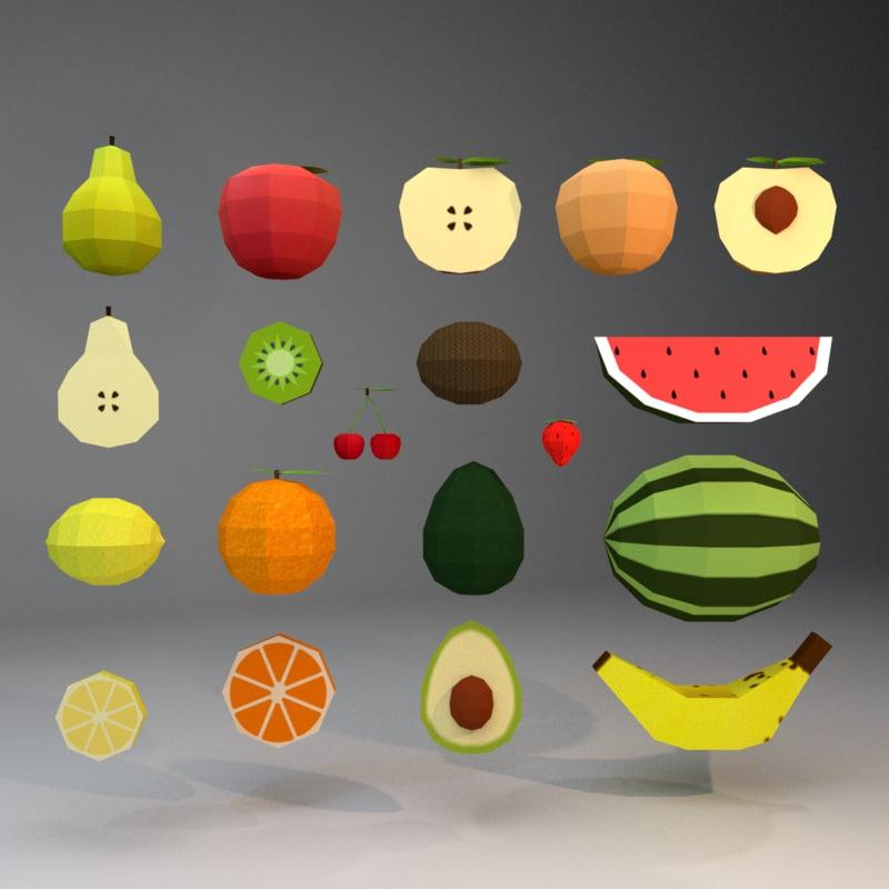 fruits unreal unity 3D model