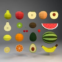 fruits unreal unity 3D model