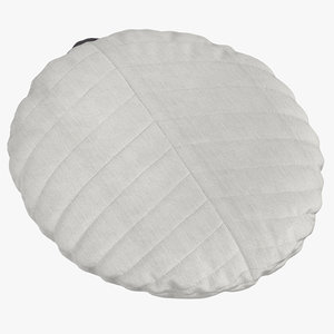 3D model scandinavian floor pillow