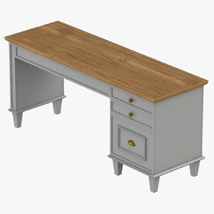 transitional desk 3D model