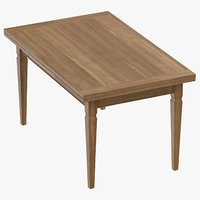 transitional dining table closed model