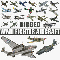 wwii rigged aircraft big 3D model