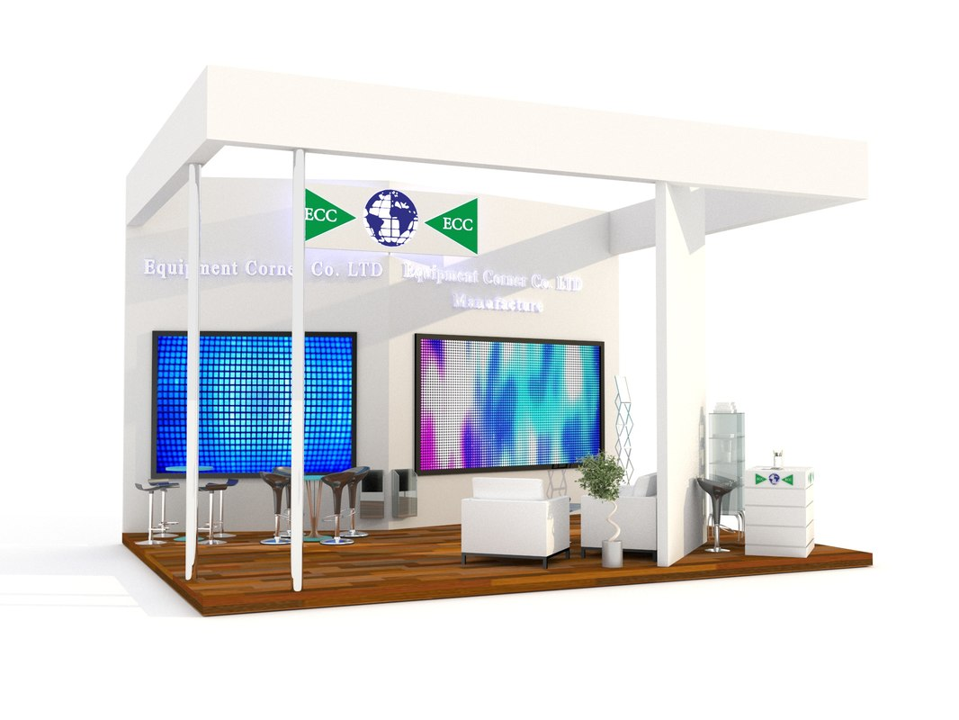 3D expo booth display