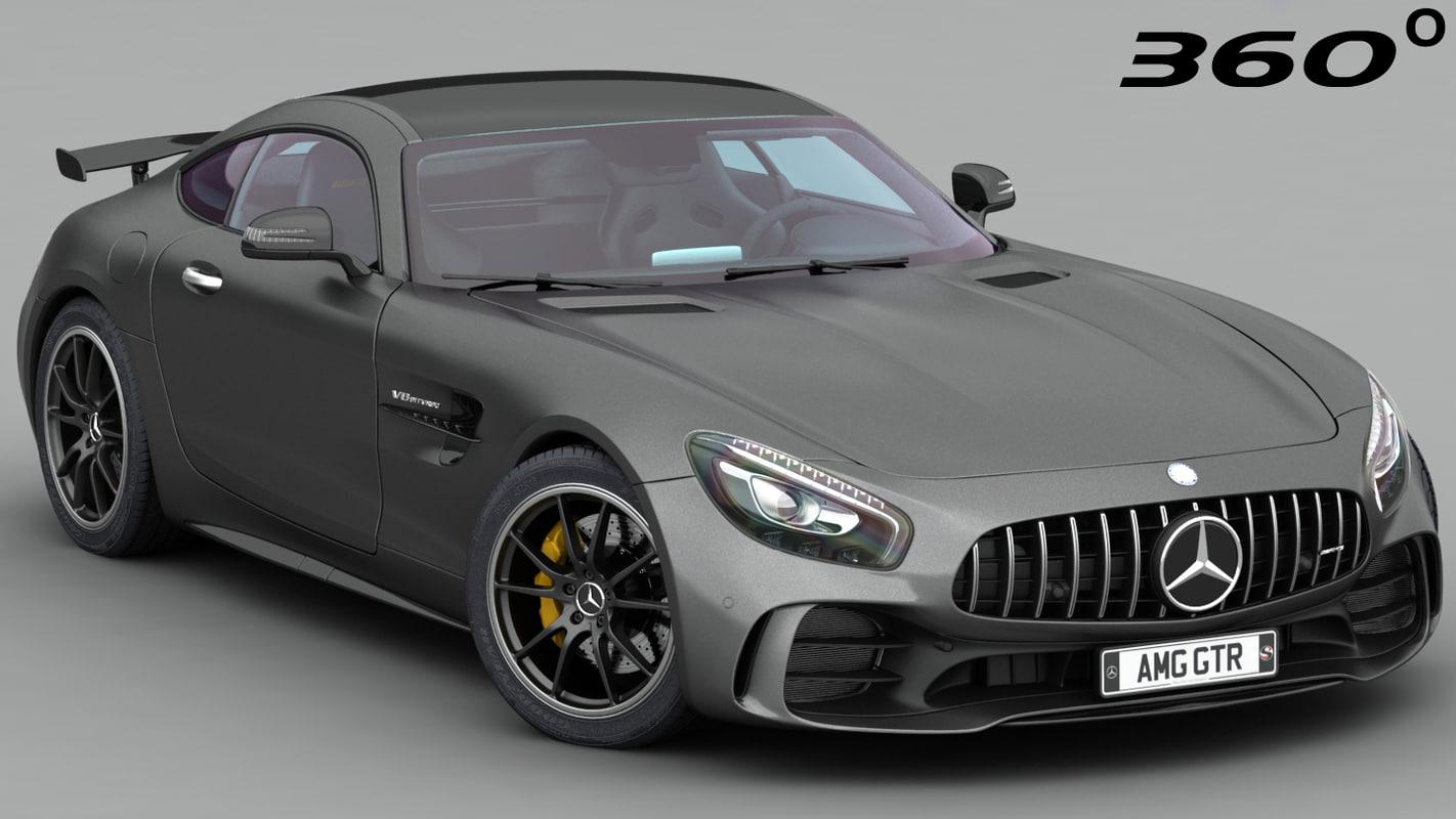 mercedes amg gtr 2018 3D model