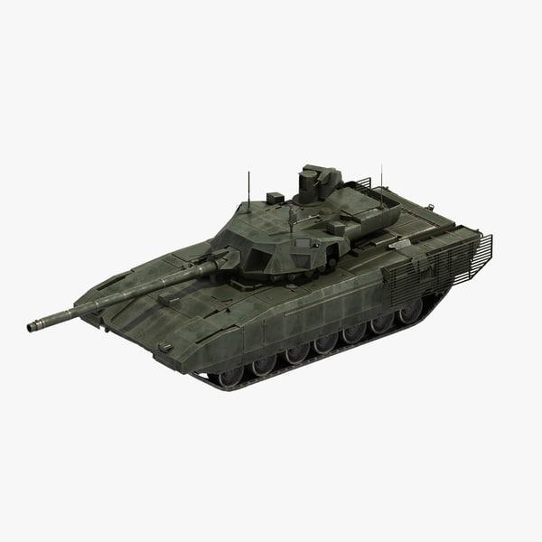 t-14 armata tank 3D