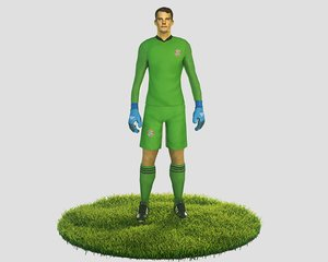 3D ready football soccer goalkeeper