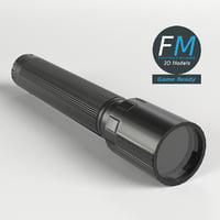 led flashlight torch light 3D