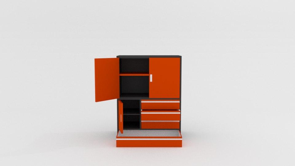 station cupboard 3D model