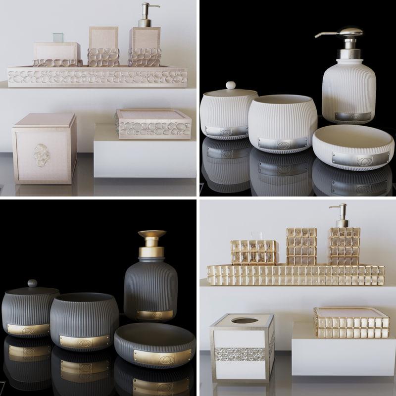 3D model bathroom set