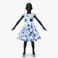 dress girl v2 3D
