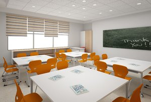 modern class room model